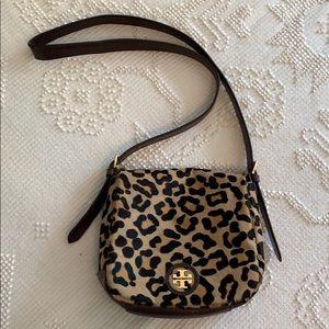 Tory Burch leopard flap purse